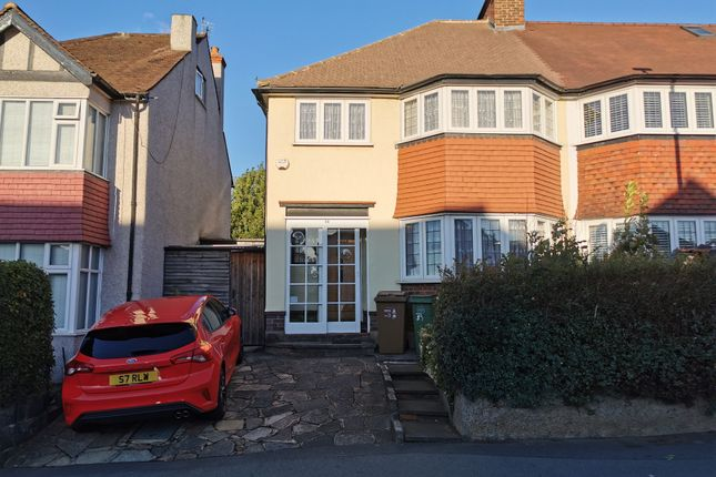 Thumbnail Semi-detached house for sale in Malden Road, Cheam