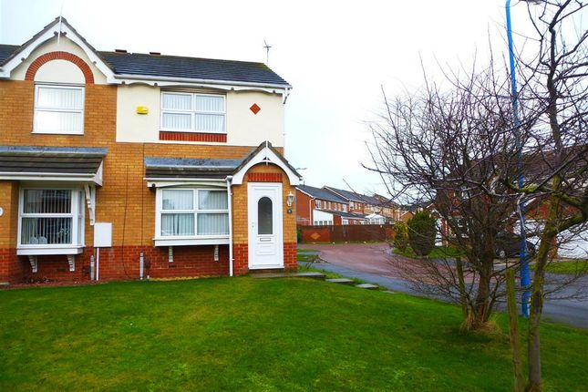 Thumbnail End terrace house to rent in Templeton Close, Hartlepool
