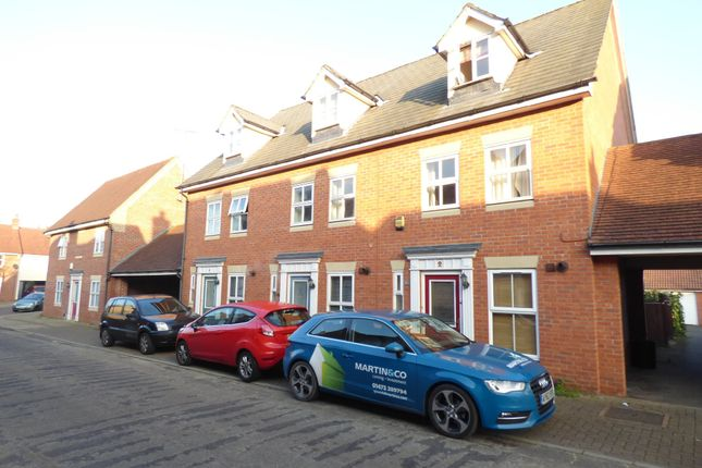Thumbnail Town house for sale in Hatcher Crescent, Colchester