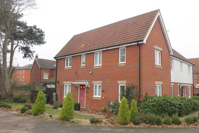 Thumbnail Semi-detached house to rent in Castle Gardens, Kesgrave, Ipswich