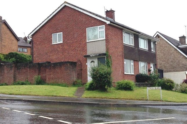 Thumbnail Semi-detached house to rent in Tyla Glas, Caerphilly