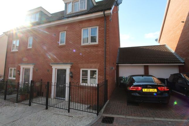 Thumbnail 4 bed semi-detached house to rent in Meridian Rise, Ipswich