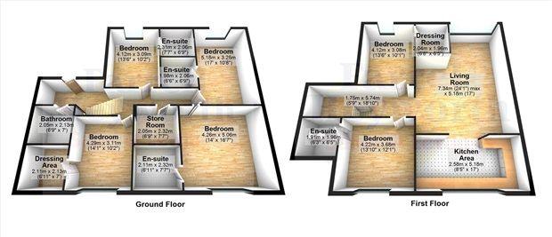 Floorplan of Chain Lane, Staining, Blackpool FY3