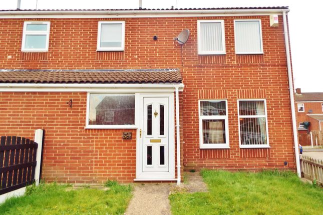 Thumbnail End terrace house to rent in Coventry Drive, Worksop, Nottinghamshire