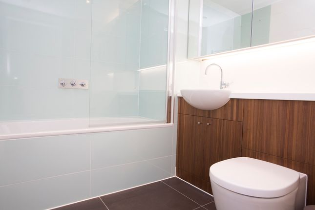 Bathroom With Built In Storage.