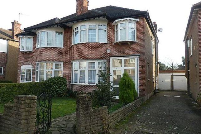 Thumbnail Semi-detached house to rent in Lynton Mead, Totteridge, London