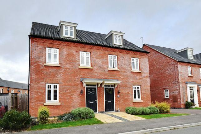 Thumbnail Semi-detached house for sale in Marmion Close, Market Harborough, Leicestershire