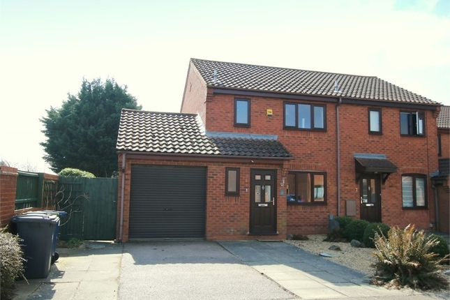 Thumbnail End terrace house for sale in Swift Close, St. Neots