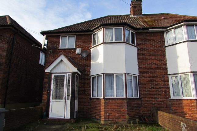 Thumbnail Semi-detached house for sale in Victoria Avenue, Wembley
