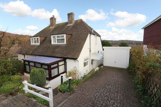 Thumbnail Semi-detached bungalow for sale in High Ridge, Hythe