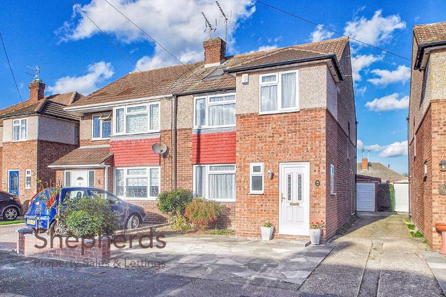 Thumbnail Semi-detached house to rent in Long Moor, Cheshunt, Hertfordshire