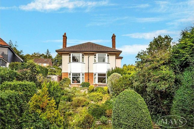 Thumbnail Detached house for sale in Corfe View Road, Parkstone, Poole