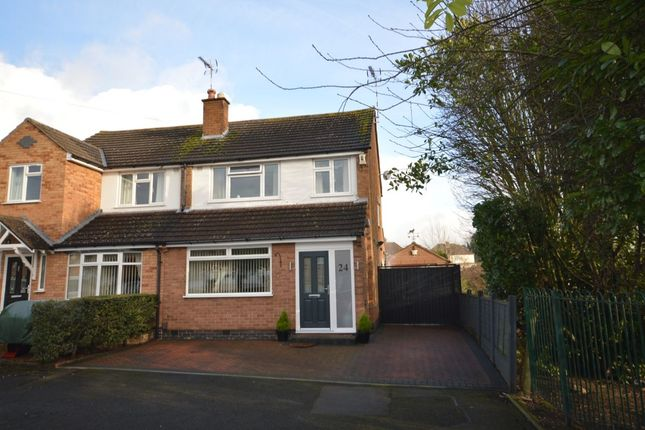 Thumbnail Semi-detached house for sale in Glen Rise, Glen Parva, Leicester