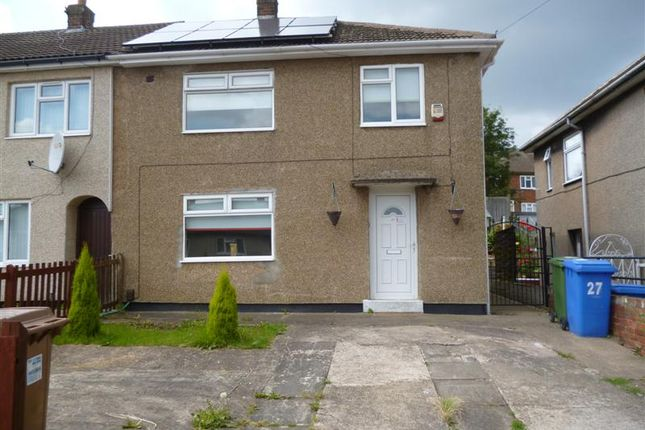 Thumbnail End terrace house to rent in Birks Road, Mansfield