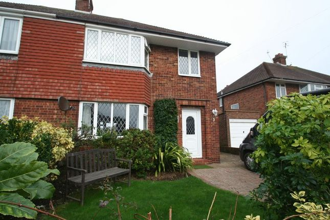 Thumbnail Semi-detached house for sale in Kelso Close, Worthing