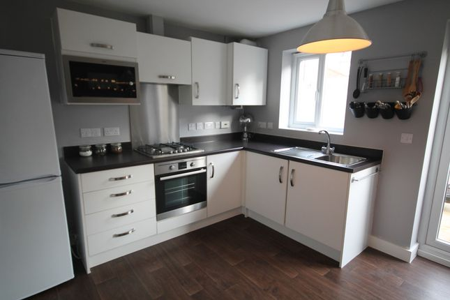 Thumbnail Town house to rent in Salford Way, Church Gresley, Swadlincote