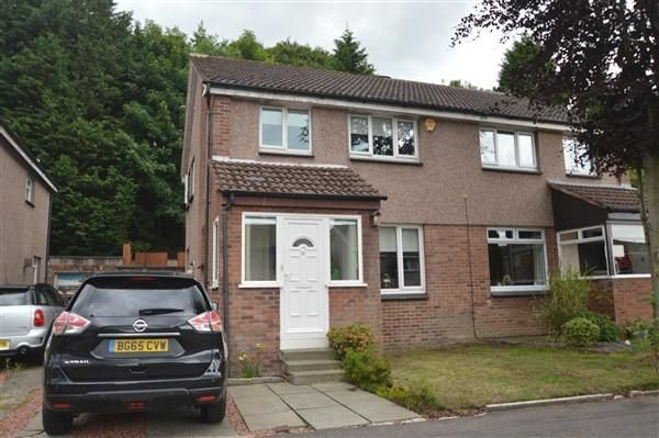 Thumbnail Semi-detached house for sale in Dungoil Road, Lenzie, Glasgow