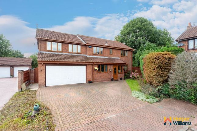 Thumbnail Detached house for sale in Castle Green, Westbrook, Warrington