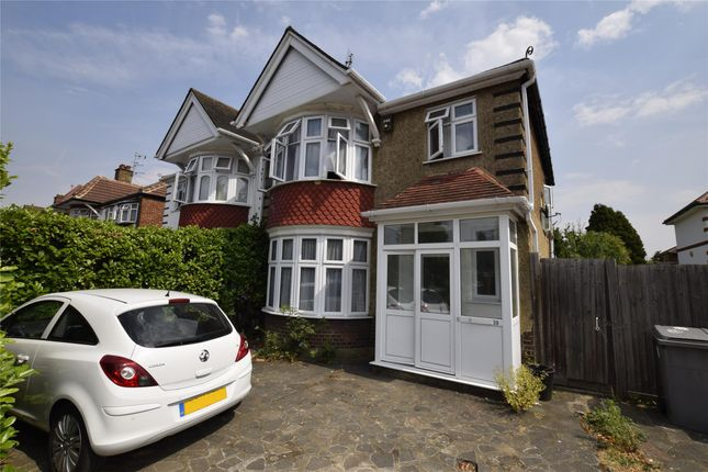 Thumbnail Semi-detached house to rent in Rushout Avenue, Kenton, London