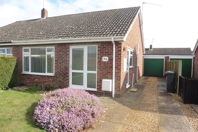 Thumbnail Semi-detached bungalow to rent in North Park, Fakenham