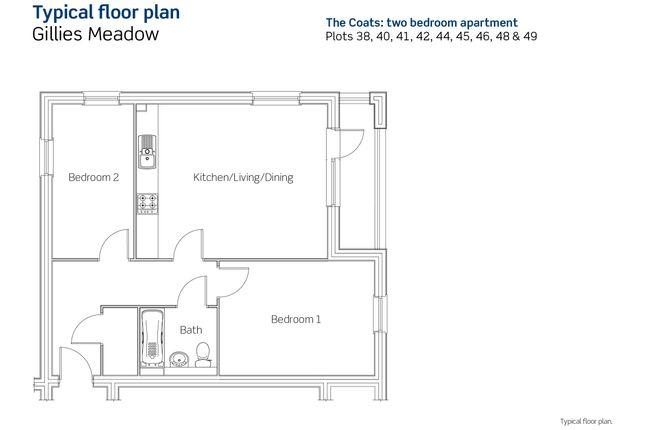 2 bedroom flat for sale in The Coats, Plot 40, Divot Way, Basingstoke, Hampshire