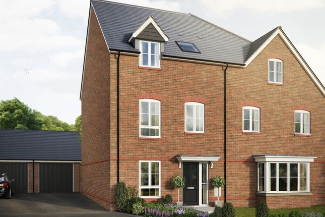 """Thumbnail Semi-detached house for sale in """"The Elsdon"""" at Saunders Way, Basingstoke"""