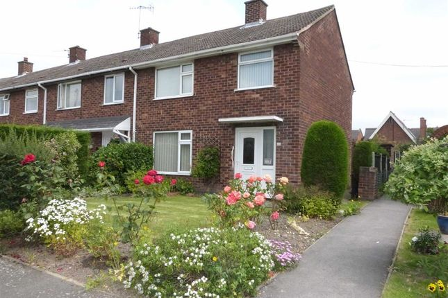 Thumbnail End terrace house to rent in Grove Way, Chesterfield, Derbyshire