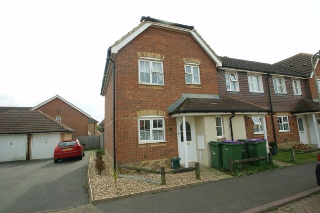 Thumbnail End terrace house to rent in Grice Close, Hawkinge, Folkestone