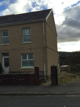 Thumbnail Semi-detached house to rent in Wernoleu Road, Ammanford