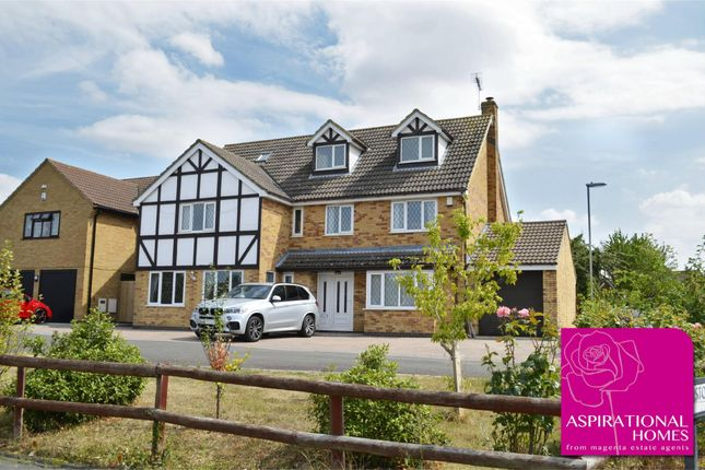 Thumbnail Detached house for sale in Restormel Close, Rushden, Northamptonshire