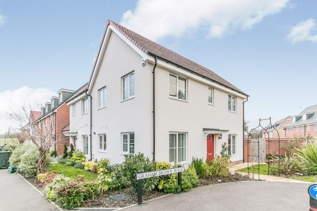 Thumbnail Semi-detached house for sale in Graham Brown Walk, Witham
