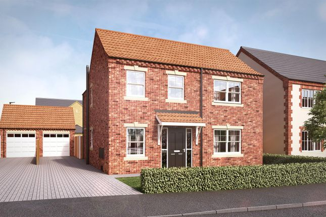 Thumbnail Detached house for sale in Bentley Court, Yaddlethorpe Grange, Scunthorpe