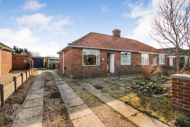 Thumbnail Semi-detached bungalow for sale in Meadow Way, Hellesdon, Norwich