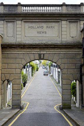 Entrance of Holland Park Mews, London W11
