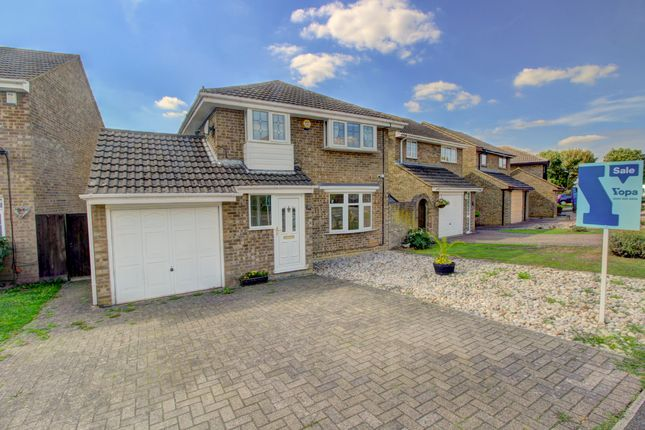 Thumbnail Detached house for sale in Favell Drive, Furzton, Milton Keynes