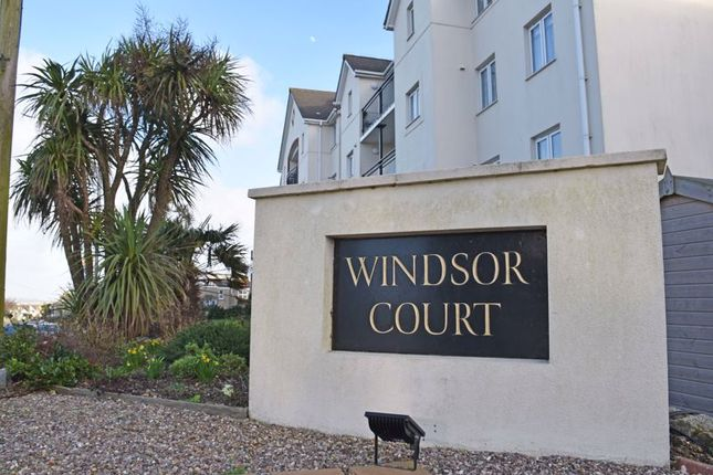 Name Plaque of Windsor Court, Mount Wise, Newquay TR7