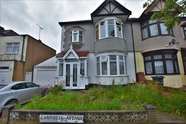 Thumbnail Terraced house to rent in Campbell Avenue, Ilford, Essex