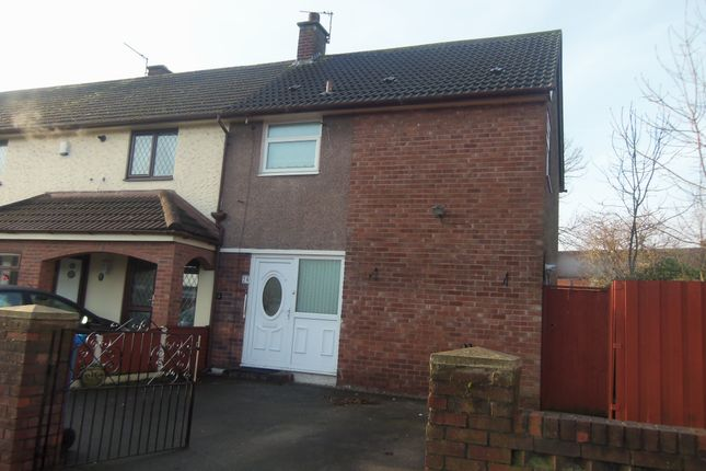 Thumbnail End terrace house to rent in Arncliffe Road, Halewood, Liverpool, Merseyside