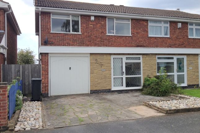 Thumbnail Semi-detached house to rent in Goddards Close, Beaumont Leys, Leicester