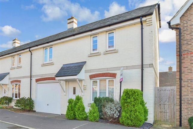 Thumbnail End terrace house for sale in Harwood Close, Pulborough, West Sussex
