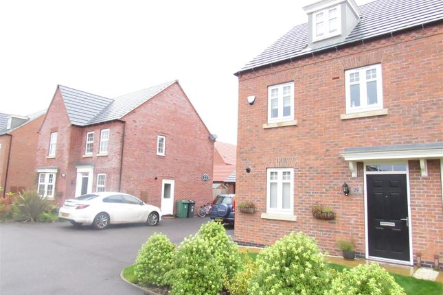 Thumbnail Terraced house for sale in Loddington Close, Syston, Leicester