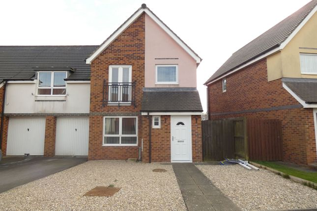 Thumbnail Semi-detached house to rent in Coneygarth Place, Ashington
