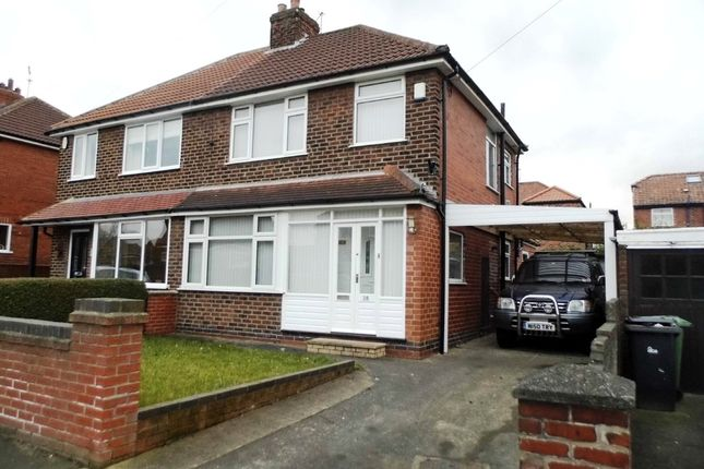 Thumbnail Semi-detached house to rent in Collingwood Avenue, Holgate, York