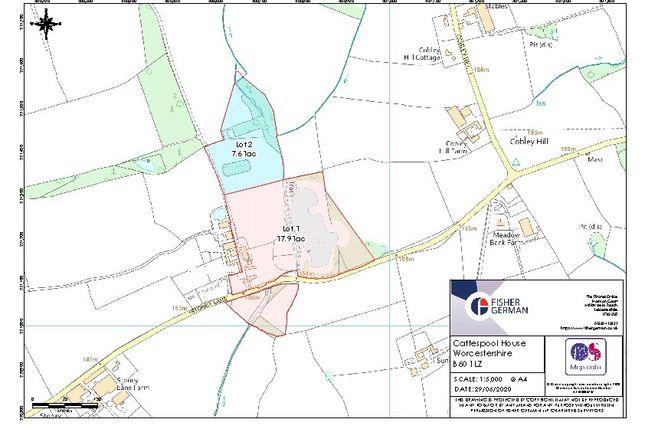 Boundary Plan of Stoney Lane, Tardebigge, Bromsgrove B60