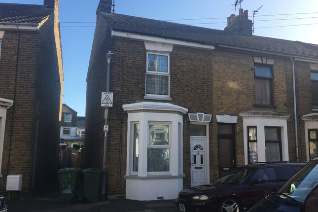 Thumbnail End terrace house to rent in Harris Road, Sheerness