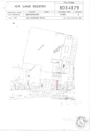 Title Plan of Montpelier Mews, High Street South, Dunstable LU6