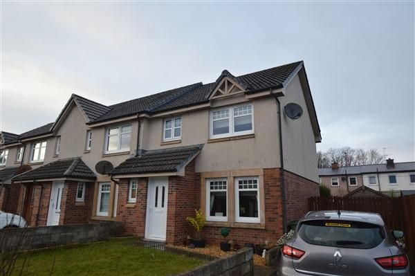 Thumbnail End terrace house for sale in Rye Drive, Barmulloch, Glasgow