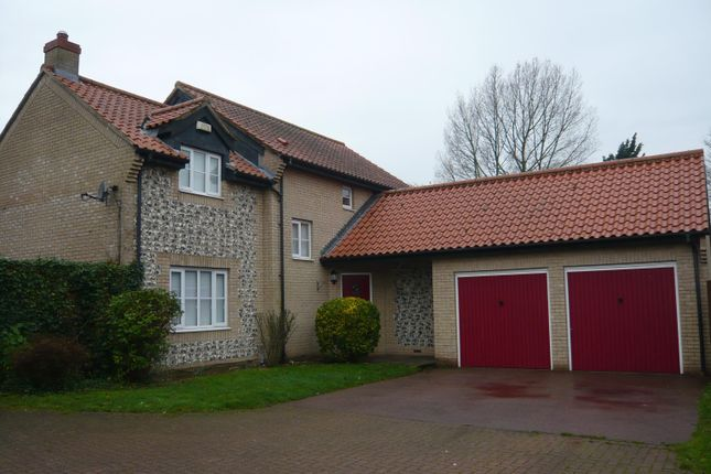 Thumbnail Detached house to rent in Normandy Close, Northwold, Thetford