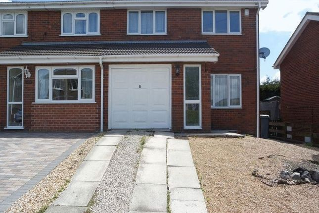 Thumbnail Semi-detached house to rent in Worth Close, Meir Hay, Stoke-On-Trent