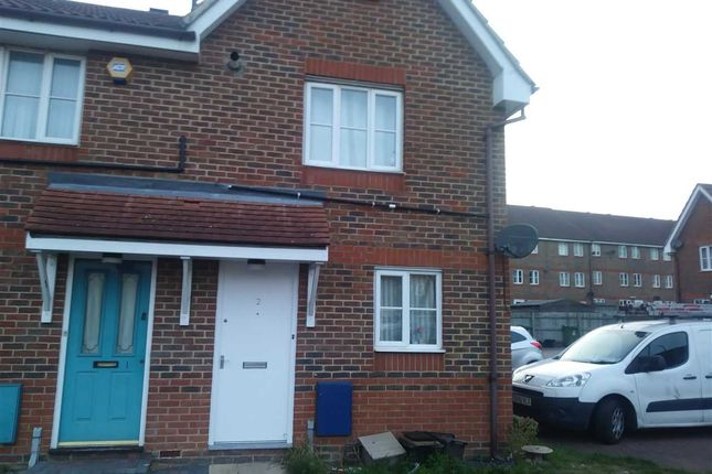 Thumbnail End terrace house to rent in Birkdale Close, Thamesmead West, London